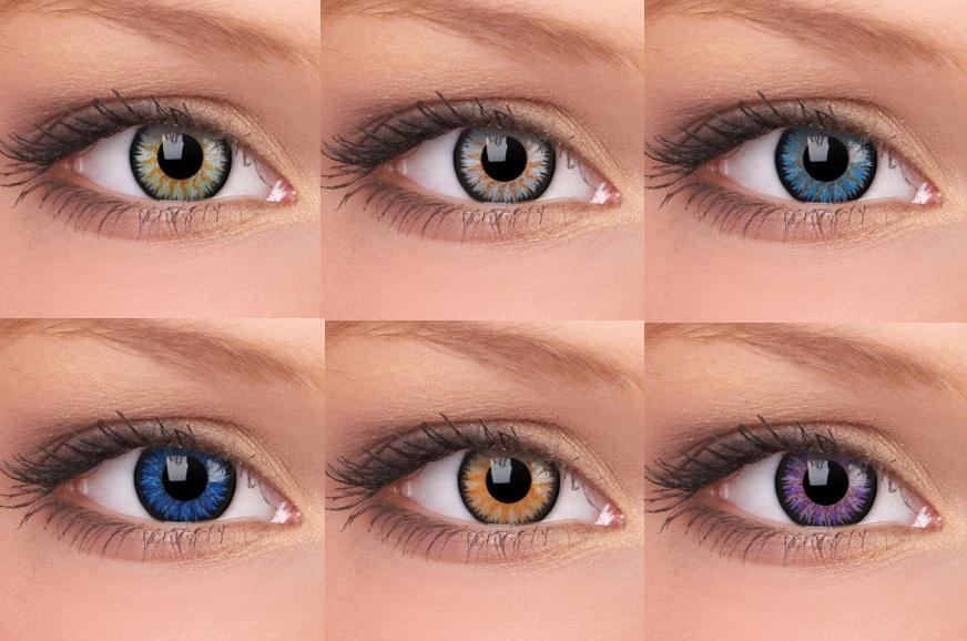 Корректирующие функции контактной оптики. Цветные линзы с диоптриями